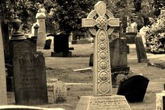 Old grave marker Royalty Free Stock Photos