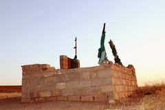 Old grave. Old muslim grave stone in kurdistan royalty free stock photos