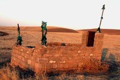 Old grave. Old muslim grave stone in kurdistan stock photos
