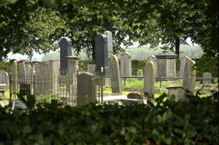 Old grave yard. From the 18th, 19th and 20th century in a village in the Netherlands called Nieuwe Schans Stock Photos