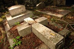 Old Grave Yard. Protestant cemetery dating from 1789, final resting place of Penang's European pioneers such as Francis Light and early governors of Penang Royalty Free Stock Photos