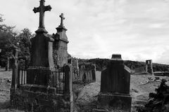 Old grave yard in Belgium royalty free stock images