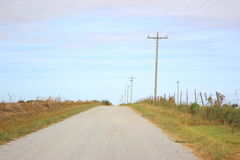 Old Gravel Country Road Stock Photography