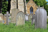 Old graves in cemetery Stock Photography