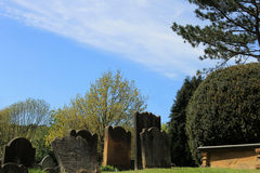 Old graves in English cemetery Royalty Free Stock Photography