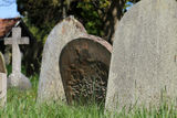 Old graves in English cemetery Stock Photography