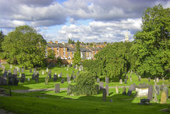 Old graves at the famous general cemetery in Nottingham Stock Photography