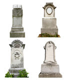 Old graves isolated Royalty Free Stock Photos