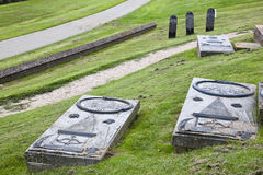 Old graves of the lost village of Oterdum, Holland Royalty Free Stock Image