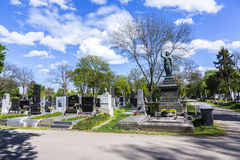 Old Graves and Memorials at the  Zentralfriedhof, Vienna, Austri Stock Photo