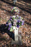 Old Gravesites With Flowers Royalty Free Stock Photos