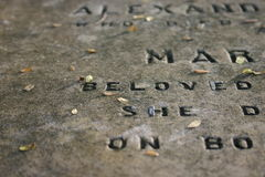 Old Gravestone (1800's) Royalty Free Stock Photos