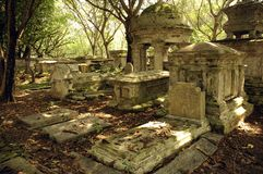 Old gravestone. Very very old gravestone at grave yard stock image