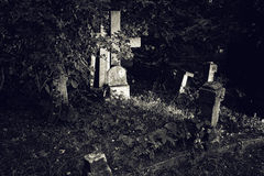 Old gravestone cross Royalty Free Stock Photos