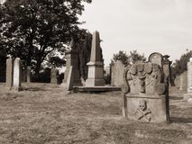 Old Gravestone in sepia Stock Photography