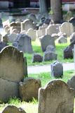 Old gravestones. In a Boston cemetery Royalty Free Stock Photography