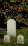 Old gravestones in a cemetery. Old gravestones at Camp Hill Cemetery on Robie Street in Halifax, Nova Scotia is adjacent to the Halifax Public Gardens Royalty Free Stock Photos