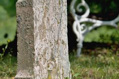 Old gravestones - detail. Old gravestones in an old cemetery. Photographed in Slovakia royalty free stock images