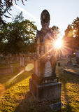 Old gravestones at sunset, Ross Bay Cemetery, Victoria, BC, Canad Stock Image