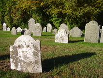 Old Graveyard. Old Connecticut cemetery Stock Photography