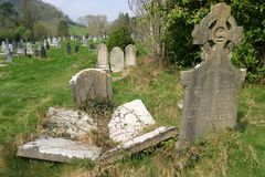 Old graveyard. In a rural area of Ireland stock photos