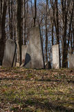 Old Graveyard. Ancient colonial era and 19th century family farm cemetery stock photos
