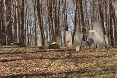 Old Graveyard. Ancient colonial era and 19th century family farm cemetery stock images