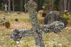 Old graveyard cross Stock Images