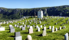 Old graveyard in dramatic scenery Stock Photography