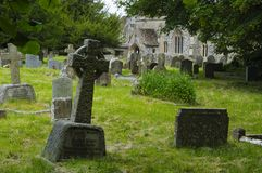 Old Graveyard. Old english graveyard, Avebury, England Royalty Free Stock Image