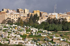 Old graveyard in Fes Stock Image