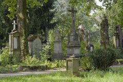 Old graveyard in Freiburg Stock Images