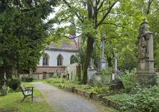 Old graveyard in Freiburg Stock Photos