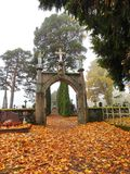 Old graveyard gate, Lithuania Stock Photo