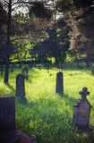 Old Graveyard in Park. Details of an old Christian graveyard in park, during spring Royalty Free Stock Photography