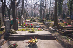 Old graveyard in Prag Royalty Free Stock Images