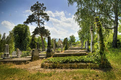 Old graveyard in transylvania Royalty Free Stock Image