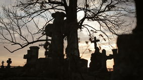 Free Old Graveyard With Ancient Crosses 5 Royalty Free Stock Photo - 68501415
