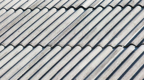 Old gray asbestos roof Royalty Free Stock Image