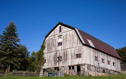 Old Gray Barn with Star Stock Photo