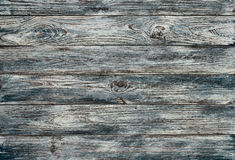 Old gray-blue painted grunge wood planks background Stock Photography