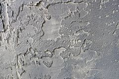 Old gray cement or concrete wall. Grunge plastered stucco textured background.  stock images