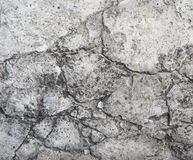 Old gray cement wall with cracks Stock Images