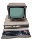 Old gray computer Stock Image