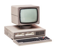 Old gray computer Stock Images