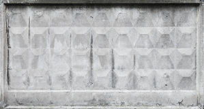Old gray concrete fence block texture Stock Images
