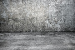 Old gray concrete room for background Royalty Free Stock Image