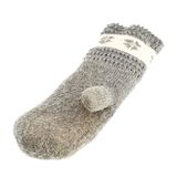 Old gray frayed mitten isolated Royalty Free Stock Photos