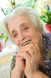 Old gray-haired woman Stock Photo