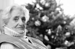 Old gray-haired woman Royalty Free Stock Images